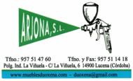 Tarjeta de contacto de Barnizados Arjona en Lucena (Córdoba)