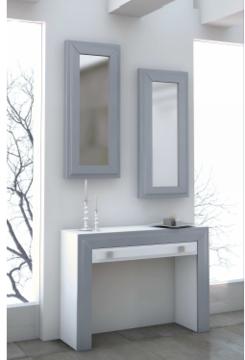 Consola 1 cajón y dos espejos