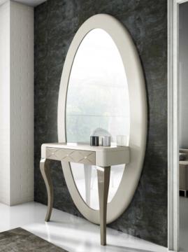 Consola espejo ovalo